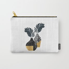 Gold + Marble Floral Vase Carry-All Pouch