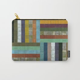 Wooden Abstract V Carry-All Pouch