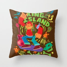 King of the Island Throw Pillow