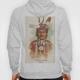 Deer Ham, Ioway, from the American Indian Chiefs series (N2) for Allen & Ginter Cigarettes Brands,18 Hoody