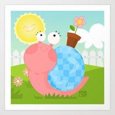 Pink Snail (female) Art Print
