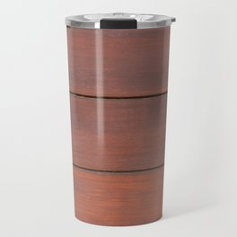 Brown colored wooden table texture Travel Mug