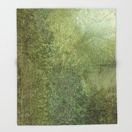 Green Immersion Throw Blanket