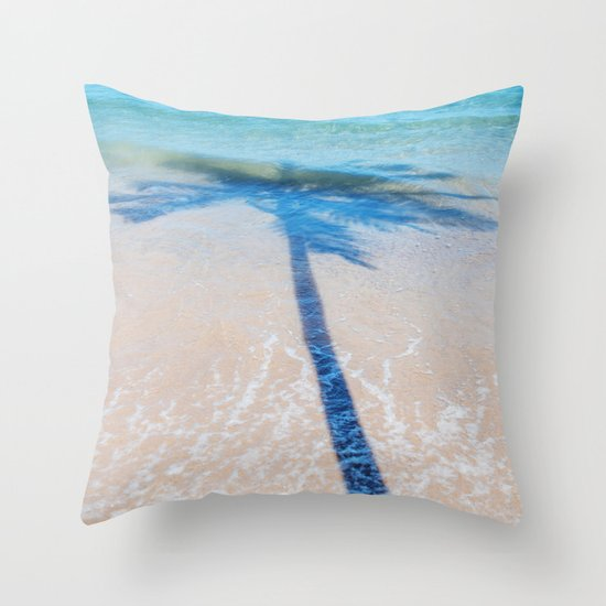 TREE IN SEA Throw Pillow