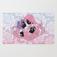 madoka Area & Throw Rugs featuring Utena la filette revolutionnaire by Neo Crystal Tokyo