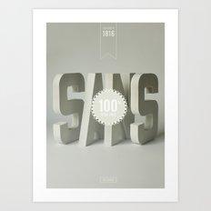 Sans Serif Art Print