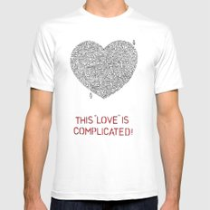 Complicated Mens Fitted Tee MEDIUM White