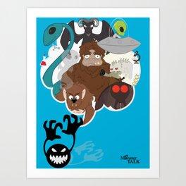Monster Talk Art Print
