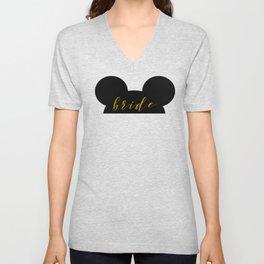 Mouse Ears Bride Unisex V-Neck