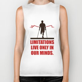 Lab No. 4 -Limitations live only in our minds corporate start-up quotes Poster Biker Tank