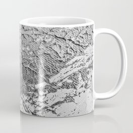 SLICK | Silver monochrome abstract acrylic art by Natalie Burnett Art Coffee Mug