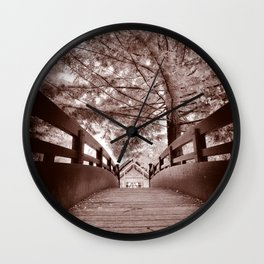 Sepia Bridge Wall Clock
