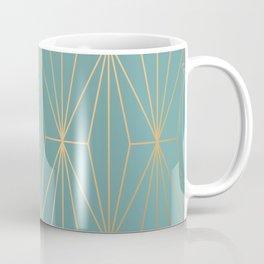 ELEGANT BLUE GOLD PATTERN Coffee Mug