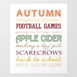 All Things Autumn Art Print