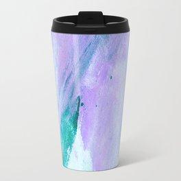 Modern lavender turquoise watercolor hand painted brushstrokes Travel Mug