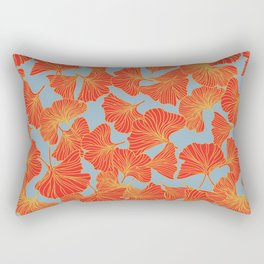 Tumbling Ginkgo Red Rectangular Pillow
