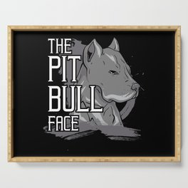 Pit Bull Face Dog American Bully Gift Serving Tray