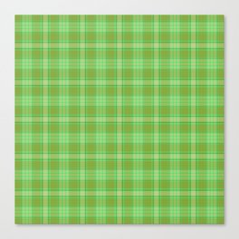 St. Patrick's Day Plaid Canvas Print