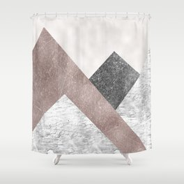 Rose grunge - mountains Shower Curtain