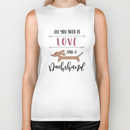 All You Need is Love and a Dachshund Biker Tank