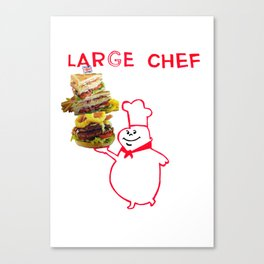 large chef Canvas Print
