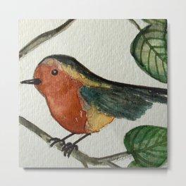 TWEET, Bird - Watercolor Metal Print