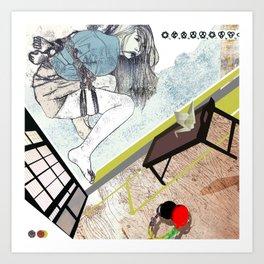 shibari_4 Art Print