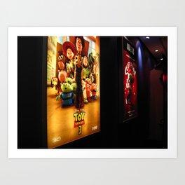 at the cinema. Art Print