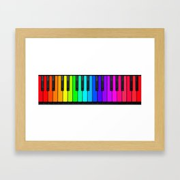 Rainbow Piano Keyboard  Framed Art Print