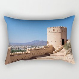 Nakhl Fort, Oman Rectangular Pillow