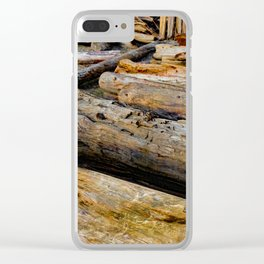 Driven Driftwood Clear iPhone Case