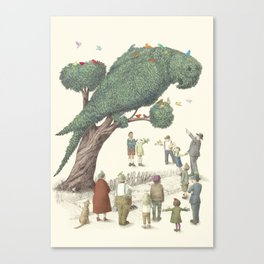 The Night Gardener - The Parrot Tree Canvas Print