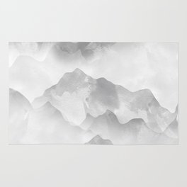 miss colored mountains Rug