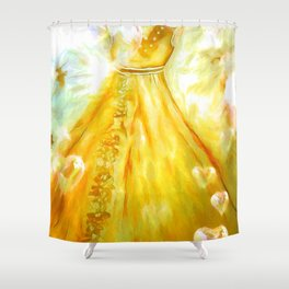 The Golden Glow Of Frienship Shower Curtain