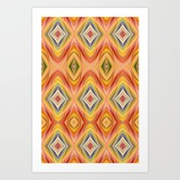 orange pattern Art Prints featuring pattern orange by Christine baessler