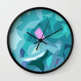 Blue Abstract Wall Clock