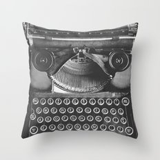 Vintage Typewriter - Before Email Throw Pillow