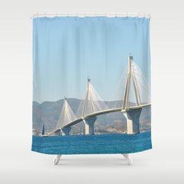 Rio Antirrio Bridge Shower Curtain