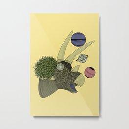 Playful Dinosaur Metal Print