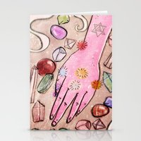 chakra Stationery Cards featuring Hand Chakra by Danielle Feigenbaum