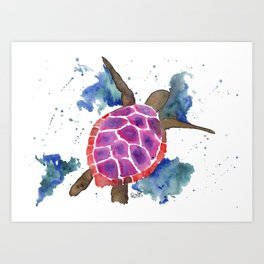 Abstract Sea Turtle Art Print