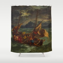 "Eugène Delacroix ""Christ on the Sea of Galilee"" (1854) Shower Curtain"