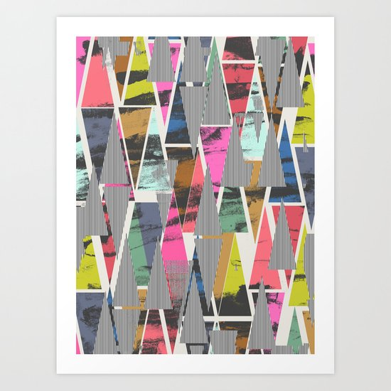 Triangles 21 Art Print