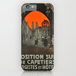 Advertisement exposition suisse de cafetiers iPhone Case