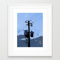 transformer Framed Art Prints featuring Transformer by AMarloweCanPrint