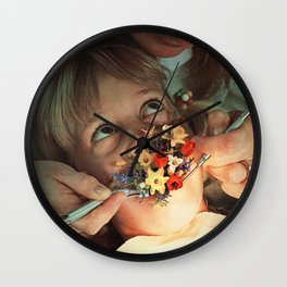 Oral Floral Wall Clock