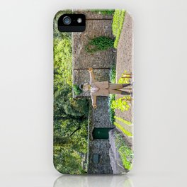 The Lost Gardens of Heligan - Diggory the Scarecrow on Guard iPhone Case