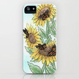 Monarch Sunflower iPhone Case