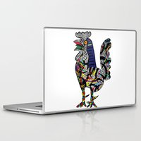 pablo picasso Laptop & iPad Skins featuring Pablo Picasso - The Cock by T.Grimm
