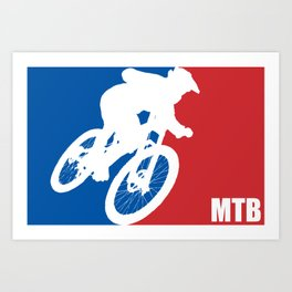 Mountain Bike All Star Art Print